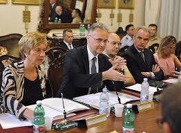 I sen. Mauro e Pinotti in un incontro con le OO.SS. nazionali