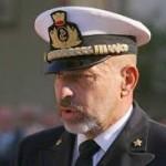 Il Capo di SMM, amm. Giuseppe De Giorgi